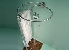 Choosing a steel circular shower curtain rod for your bathroom
