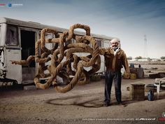 """In this ad for the navigation system in its popular. Impact & Echo BBDO Safat's """"Confusing Indian"""" won gold in Outdoor. The ad is for the navigation system in Honda's popular Accord sedan."""
