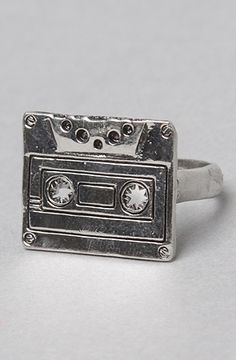 Cassette Ring - Always feel nostalgic even now with tapes