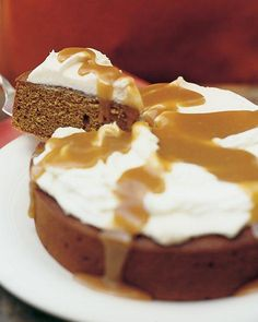 Molasses Spice Cake with Cream Cheese Frosting + Brown Sugar Glaze