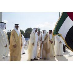 12/2/14 UAE 43rd National Day Flag-raising ceremony in Abu Dhabi PHOTO: mbzphotos