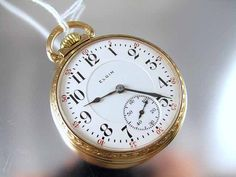 Shop for on Etsy, the place to express your creativity through the buying and selling of handmade and vintage goods. Small Clock, Old Pocket Watches, Father Time, Pendant Watch, Special Interest, Antique Watches, Ribbons, Clocks, Pearls