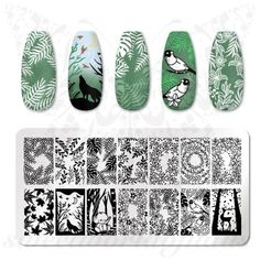 Stencil Diy, Stencil Designs, Nail Art Designs, Wave Nails, Aycrlic Nails, Solid Color Nails, Animal Nail Art, Nail Art Stamping Plates, Nail Art Images