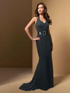The dress I would like to wear in my sisters wedding....She requested eggplant chiffon and I love this neckline.