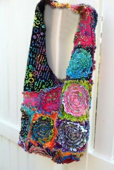 Shredded Purse Rag Bag  PATTERN Full Circle 28 x 13 by itssewsally, $7.00