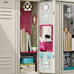 Locker decoration school lockers for home metal kit best decor images on stuff and hacks small . Cute Locker Decorations, Cute Locker Ideas, Diy Locker, School Decorations, Locker Stuff, Girls Locker Ideas, Locker Crafts, Locker Storage, Mochila Do Bts