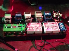 Royal Blood - bass player pedalboard This guy creates an amazing amount of sound with just one bass.