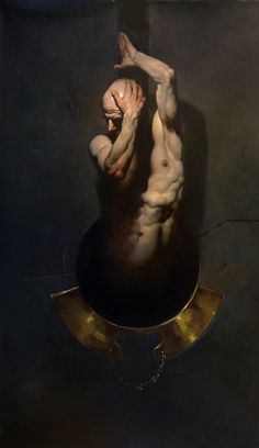 Roberto Ferri - UNCIAE OBLATIONIS - Oil, canvas, wood - Polyptych 12 pieces: 222 x 81 cm. - c. 2000