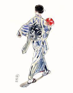 Virtual Memory, Makita, Cool Artwork, Novels, Kimono, Concept, Traditional, Drawings, Everything