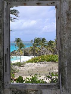 Looking out a window of the ruins of Harry Smith House on the east coast of Barbados. I would like to look through this hole. Window to the Sea2 by Farmz Photoz, via Flickr