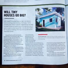 """Stoked to have our #tinyhouse #ADU Designs featured in the May 2016 issue of @honolulumag ! """"Will Tiny Houses Go Big?"""" We think so... Give us a call to learn more about our models and to schedule a visit to our #Honolulu design studio  showroom! 808.375.9441 