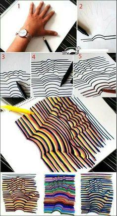 .-desenho da mão em 3 D...