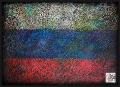 Hand-Painted Flag of Russia Russian Flag-Distressed by ArtForLoft