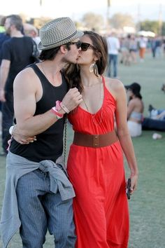 Ian Somerhalder and Nina Dobrev (The I want a relationship like that couple) <3