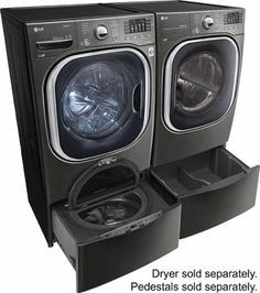 LG - 4.5 Cu. Ft. 14-Cycle Front-Loading Washer - Black stainless steel - AlternateView11 Zoom