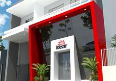 Cladding Design, Facade Design, Design Comercial, Entrance Signage, Deco Restaurant, Design Exterior, Gym Decor, Clinic Design, Showroom Design