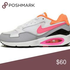 Nike Air Max St Running Shoe Nike Air Max St (white/pink/pow/orange) Women's Running Shoes Women's Nike Air Max ST shoe blends the iconic Air Max design with a combination upper for durability and classic style. This show has been worn 3 times. PLEASE ask any question you may have. Nike Shoes Athletic Shoes