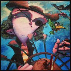 All hands on deck!!! #pirates #parrot #dénia #streetart #graffiti