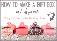 How To Make A Gift Box Out Of Paper & $100 Jewelry Giveaway