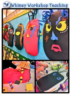 African Masks, Sight Word Caterpillars, Class Library Organization, and Free Heart Graphics African Masks, African Art, Creative Class, Creative Writing, 2nd Grade Art, Grade 3, Second Grade, Heart Graphics, Arts And Crafts Projects