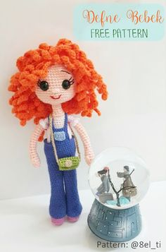 Amigurumi Bay Doll Free Pattern – Tiny Minigra – Visit our site for the most beautiful diy projects Amigurumi Doll Pattern, Crochet Doll Pattern, Crochet Dolls, Crochet Patterns, Baby Knitting Patterns, Doll Patterns, Easy Crochet Projects, Cute Crochet, Stuffed Toys Patterns
