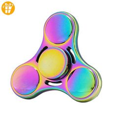 Cheap price Mafun EDC Hand Spinner Creative Metal table Toy High Speed Bearing - Mins Of Smooth Spinning For Adult Children Stress Relief ADD Anxiety Autism Sensory (Rainbow) on sale Rainbow Fidget Spinner, Fidget Spinner Toy, Fidget Spinners, High Speed 2, Hand Spinner, Edc Spinner, Autism Sensory, Metal Toys, Adult Children