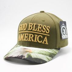166ca4e38b6c66 Shop Pit Bull Exclusive Design Snapback Faded US Flag Printed Custom Brim  Olive Crown with God Bless Amercia Metalic Gold Embroidery Hats Caps  Wholesale