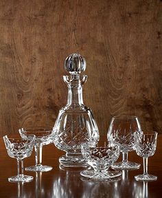 """Waterford """"Lismore"""": Oh how fancy is that and how wonderful would that look in my home!"""
