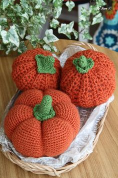 Crochet stitch,Making Halloween Pumpkin 할로윈 호박 손뜨개 소품