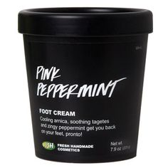 Put your feet up and treat them fairly with our pinkest, perkiest, and mintiest foot lotion. Our restorative cream for feet is made with mega moisturizing organic Fair Trade cocoa butter. An added double dose of revitalizing spearmint and peppermint makes sore feet feel cool and helps to relieve aches and pains after being stuck in shoes. Plus, we've added soothing arnica and marigold herbs to take away the weariness and get your feet ready for another run in the rat race. Treat your feet…
