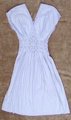 Edwardian-inspired vintage lace overlay dress
