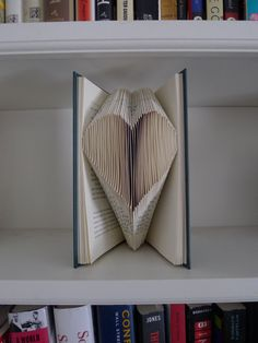 Folded book pages...