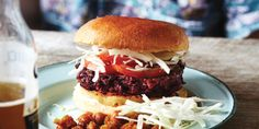 I Quit Sugar - Beetroot Lentil Burger