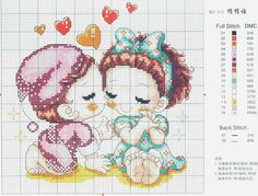Love babies cross stitch