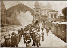 1914 - LADO INTERNO DA ESTAÇÃO DA LUZ