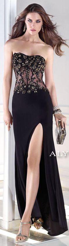 Para la siguiente fiesta =)  ❤️ Alyce BDazzle 35675 Dazzling Beaded Floral Gown