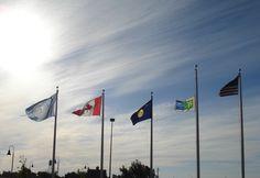 Blackfeet Flag outside the Browning, MT motel.