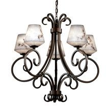 View the Justice Design Group FAL-8570 5 Light Single Tier Up Light Chandelier from the LumenAria™ Collection at LightingDirect.com.