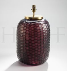 Bambola Amethyst Table Lamp - to add a touch of rouge noir to the sitting room