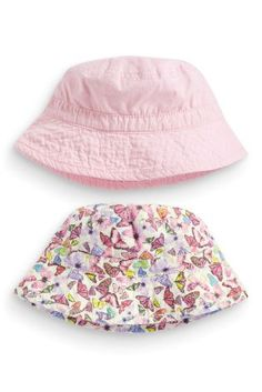 Two Pack Butterfly And Pink Fisherman's Hats (3mths-6yrs)
