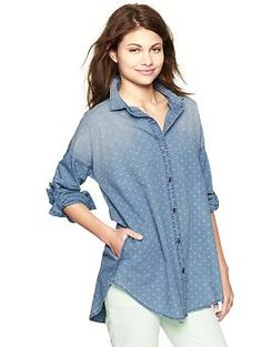 1969 geo print chambray tunic | Gap $44.99
