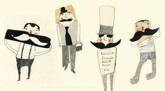 Nelleke Verhoeff on Behance Moustache, Holland, Behance, Graphics, Heart, Drawings, Illustration, Artist, Illustrations