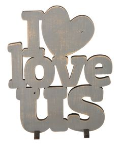 'I Love Us' Word Wall Sign