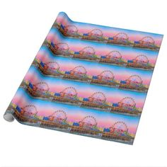 Santa Monica Pier at Sunset Wrapping Paper