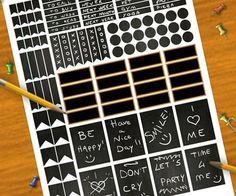chalkboard planner stickers printable black blackboard organizer agenda home life planner print organizer instant downloadlasoffittadiste