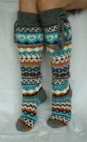 Tina's handicraft : knitting socks Knitting Stitches, Knitting Socks, Knitting Patterns, Crochet Socks, Knit Crochet, Cute Socks, Wool Socks, Fair Isle Knitting, Irish Lace