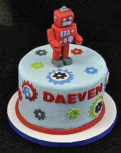 Robot Cake by jennywenny, via Flickr