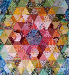 All the pretty colors!    Patchwork Prism Quilt :: Anna Maria Horner