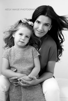 Mother and daughter girls glamour studio session by Miami based portrait studio Neox Image.