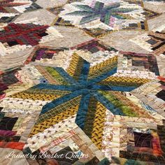 Close-up of one of your favorite Laundry Basket Quilts - \